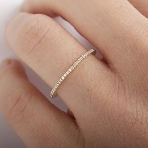 Jewelry - 🍒3/$30 New Dainty Gold Pave Stacking Ring